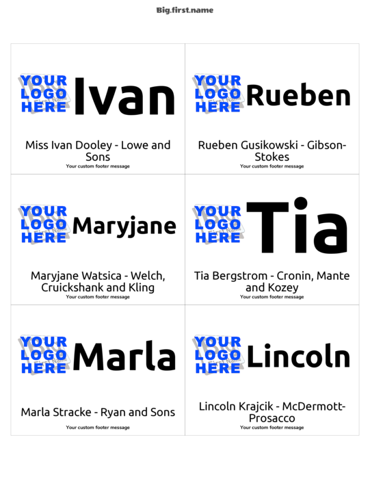 name badge templates .