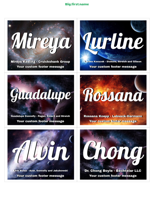 space nametag name badge name plate