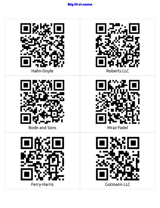 nametag name badge design QR-Code Label