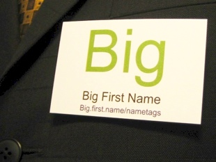 Name Badge and name tags from Big.first.name
