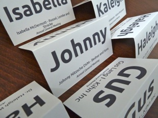 School Place Name Card